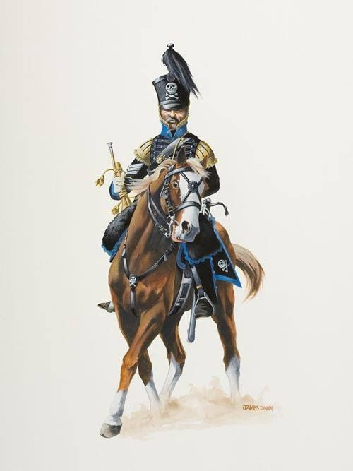 The army of Brunswick-Trumpeter Regiment of Hussars 1809.jpg